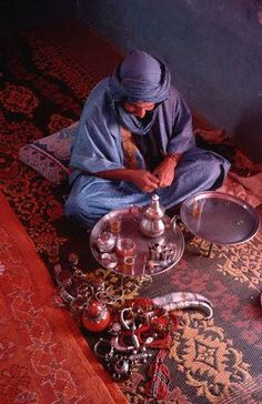 Tuareg Man with Jewelry and Treasures  Morocco !