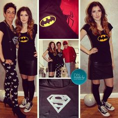 #carnival #diy #costume #batman #superman #print #shirts #outfits diy made by carolin weíland