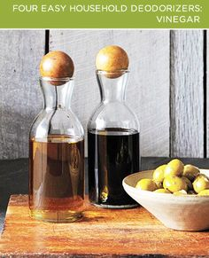 Vinegar is an odor neutralizer. It doesn't just hide smells, it actually gets rid of them.