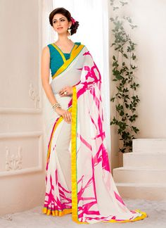 Beauteous Print Work Georgette Casual Saree
