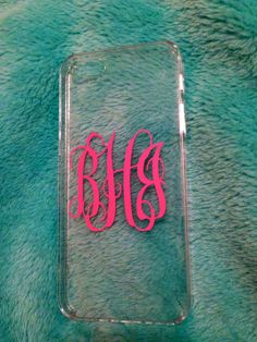 Made to order. Personalize your iPhone with a monogram clear iPhone case. This case is clear. You will be able to monogram your phone without having