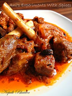 Ani's Experiments With Spices: Nepali Bhutwa~ An Exquisite Mutton Dish From Nepal