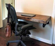 This is the perfect desk for the person that works from home but doesn't want a huge office desk. Small enough to fit in a tight corner but beautiful enough to be the focal point of your favorite accent wall, this desk is all you need to get to work... uh and maybe a laptop and a cup of coffee. With the included steel pipe supports, this desk can hold almost anything you can throw at it. Comes with a cable management hole to keep it looking good. The best thing? It also doubles as a bar! ...