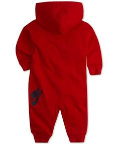 Nike Baby Boys and Girls Play All Day Hooded Coverall & Reviews - All Baby - Kids - Macy's Baby Boy Clothes Hipster, Baby Boy Clothing Sets, Cute Baby Clothes, Babies Clothes, Toddler Boy Outfits, Toddler Fashion, Kids Outfits, Toddler Boys, Little Boy Swag