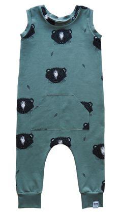 Kleine Baasjes Organic - Jumpsuit Skunky Dusty Green