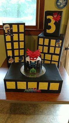PJ Masks City cake display