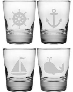 Nautical Double Old Fashioned Glasses                                                                                                                                                     More