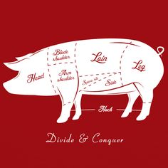 Its pig. Its pork. Its bacon. Its tasty. Its our Craft Brewed Clothing Divide & Conquer t-shirt.