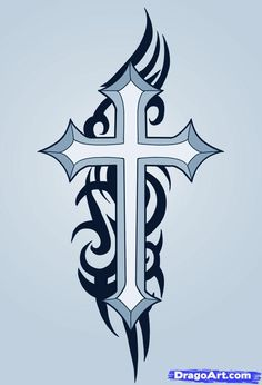 Easy to Draw Cross Designs   how to draw a cross , how to draw crosses
