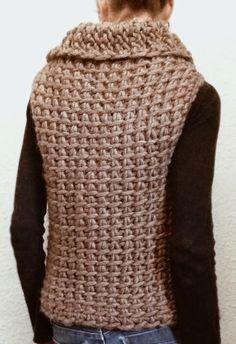 Fabulous Crochet a Little Black Crochet Dress Ideas. Georgeous Crochet a Little Black Crochet Dress Ideas. Crochet Afghans, Gilet Crochet, Tunisian Crochet Stitches, Crochet Vest Pattern, Knit Crochet, Crochet Patterns, Crochet Vests, Love Crochet, Easy Crochet