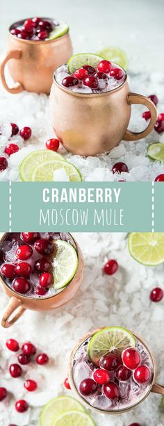 Moscow mule recipe Shake up a Cranberry Moscow Mule and serve this festive holiday cocktail at your. Shake up a Cranberry Moscow Mule and serve this festive holiday cocktail at your next dinner party or holiday celebration! Cocktail And Mocktail, Cocktail Recipes, Cranberry Cocktail, Moscow Mule Cranberry, Cocktail Ideas, Cranberry Sauce, Christmas Drinks, Holiday Cocktails, Holiday Alcoholic Drinks
