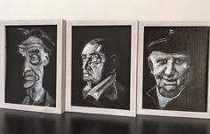 Three old men, by Gaby von Oven - acryl on hard board Old Men, Art Work, Third, Oven, My Arts, Work Of Art, Kitchen Stove, Art Pieces, Ovens