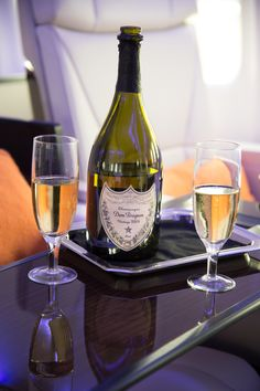 Toast your travels with Dom Pérignon, the icon of luxury champagne. Dom Pérignon is always vintage only, made only with the very best grapes of the most exceptional years. As the exclusive Champagne provider aboard the Private Jet, passengers will enjoy the latest vintage from one of the world's finest wine makers.