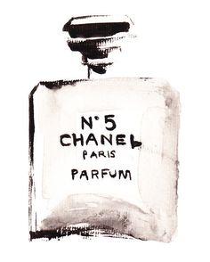 Chanel No 5 brush painting