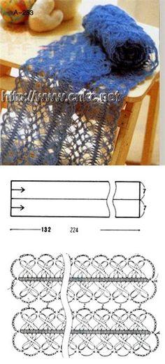 Вилка - Perunika Knitting - Álbuns da web do Picasa Filet Crochet, Crochet Motif, Crochet Shawl, Crochet Designs, Crochet Stitches, Knit Crochet, Tunisian Crochet, Crochet Granny, Hairpin Lace Crochet