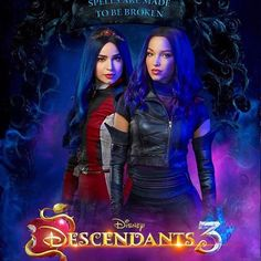 Descendants Characters, Disney Channel Descendants, Descendants Cast, Cameron Boyce, Dove Cameron, Best Disney Movies, New Movies, Mal And Evie, Secret Warriors