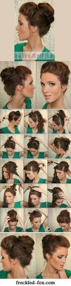 The Bouffant Bun - Hairstyles and Beauty Tips