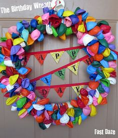 Awesome idea for birthday decorations.