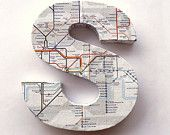 London Underground Tube Map Door Sign Mounted Lettering Custom Home Decoration Wall Decal Decor Ornament