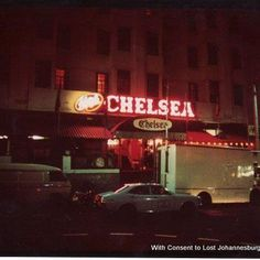 Chelsea Hotel Hillbrow - intimate dinner/dance venue - smoke, eat drink while you watched a show!