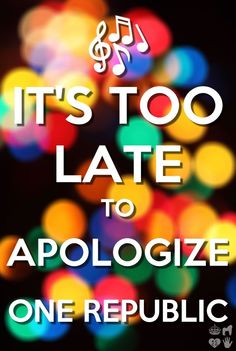 Apologize by One Republic