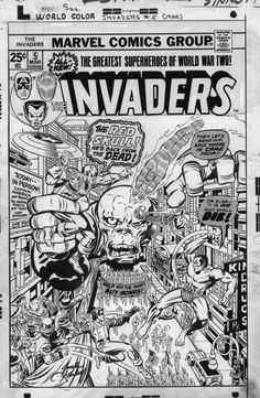 The Invaders was a pretty boring comic (hey, anything with the pompous, tedious Sub-Mariner's halfway there already!), but at least this issue sported one if Kirby's better 1970s Marvel covers (Kirby apparently hated drawing covers, even for his own stories, so he must have needed the money).