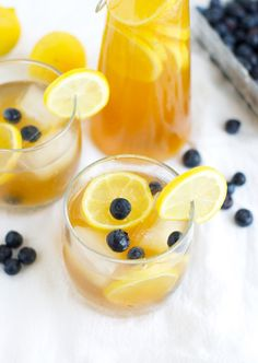Kombucha Lemonade- tastes exactly like a fizzy Arnold Palmer! via FitFoodieFinds.com