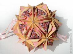 Мастер-класс Кусудама Оригами Pionia Туториал  Бумага фото 1