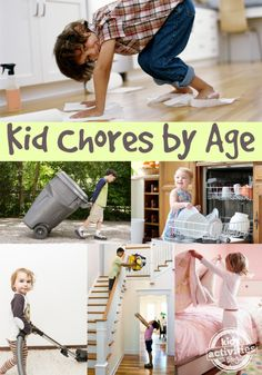 Great list of what chores kids can do by age #parenting #preschool