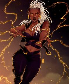 Afrofuturism Art And Cyberpunk – Marvel Comics X Men Comics, Black Comics, Bd Comics, Comics Girls, Black Girl Art, Black Women Art, Art Girl, Sexy Black Art, X Men Storm