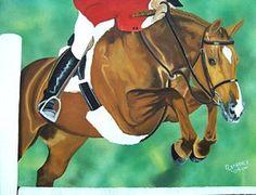 Equestrian Painting - Hunter Jumper by Debbie LaFrance