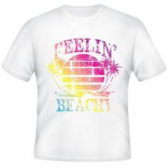 "White T-Shirt ""Feelin Beach"" € 14.90  http://www.12print.it/artshop/beach/tshirt-feelin'-beach-443.htm"