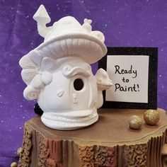 Mushroom Snail Shack Fairy House Ceramic Bisque Ready to | Etsy Diy Projects Etsy, Clay Projects, Easy Diy Projects, Project Ideas, Pottery Painting, Ceramic Painting, Diy Painting, Ready To Paint Ceramics, Ceramic Shop
