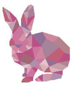 HALF OFF PATTERNS Rabbit Cross Stitch Pattern by PlatoSquirrel