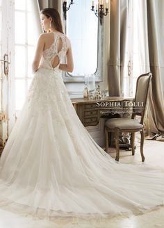Sophia Tolli is a designer wedding dress line that features incredibly romantic wedding dresses from charming A-line silhouettes to classic high necklines. Sophia Tolli wedding dresses will make your wedding day feel even more magical. Gorgeous Wedding Dress, Dream Wedding Dresses, Bridal Dresses, Wedding Gowns, Bridal Collection, Dress Collection, Sophia Tolli, Mon Cheri Bridal, Sophisticated Bride