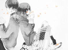 Anime couple  Cute cute cute! -^~^-