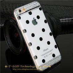 Nueva caliente! colores del caramelo cristal caja del teléfono del diamante para el iphone 6 plusTop ventas calientes suaves TPU del teléfono del lunar celular accesorios cubierta en Fundas para Móvil de Telefonía en AliExpress.com | Alibaba Group