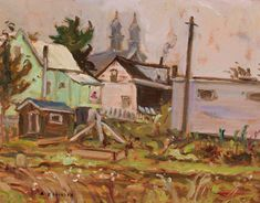 A.Y. Jackson - Ste. Anne's New Brunswick 10.5 x 13.5 Oil on board Ste Anne's, Tom Thomson, Group Of Seven, Fine Art Auctions, New Brunswick, Jackson, Oil, Board, Artist
