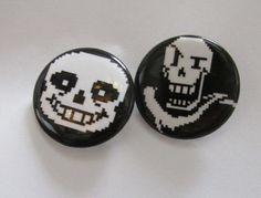 Show off your love of UNDERTALE with these buttons of the best characters in the game, Sans and Papyrus! They are 1.25 round. Buy the game!