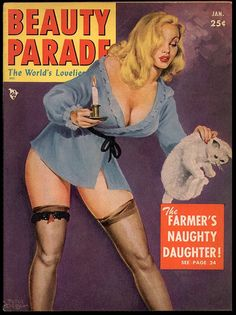 One of my favorite pin up artists, Peter Driben. His girls were always curvier and they stood out from the 'ususual'. He also did some great pulp fiction art.