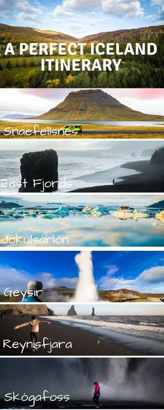The perfect Iceland travel road trip itinerary! Including Reykjavik, waterfalls, black sand beaches, camping suggestions, Golden Circle, Geysir, and even seeing the Northern Lights!