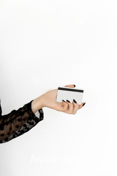Polished and professional styled stock photography for your business' sales graphics featuring a monochromatic black and white color palette. Image of woman holding credit card. Instagram Bio Quotes, Instagram Story, Business Sales, Business Marketing, Graphic Design Tips, Nail Accessories, Scarf Hairstyles, Black And White Colour, Female Images
