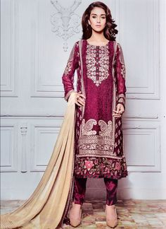 http://www.sareesaga.in/index.php?route=product/product&product_id=24815 Work	:	Embroidered Resham Work	Style	:	Salwar suit Shipping Time	:	10 to 12 Days	Occasion	:	Party Festival Fabric	:	Georgette	Colour	:	Maroon For Inquiry Or Any Query Related To Product, Contact :- +91-9825192886, +91-7405449283