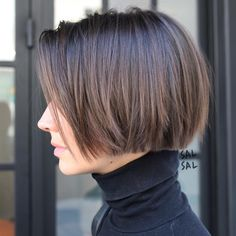 Chic Gray Blunt Haircut - 50 Spectacular Blunt Bob Hairstyles - The Trending Hairstyle Blunt Bob Hairstyles, Hairstyles Haircuts, Straight Hairstyles, Bob Haircuts For Women, Short Bob Haircuts, Haircut Bob, Haircut Styles, Short Hair Cuts For Women Bob, Classic Bob Haircut
