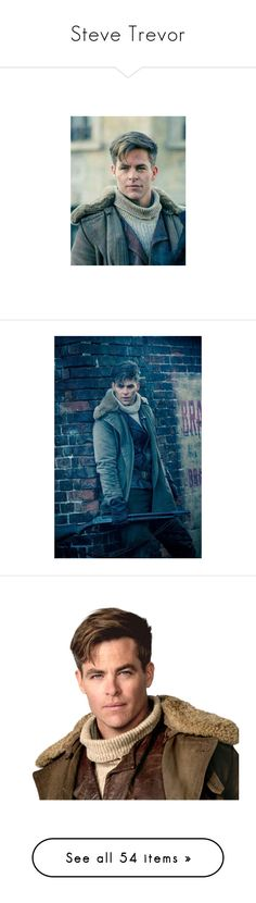"""""""Steve Trevor"""" by popularculture ❤ liked on Polyvore featuring costumes, dc comics costumes, dc comics halloween costumes, heart costume, wonder woman costume, wonder woman halloween costume, wonder woman, dc comics, get lost and pics"""