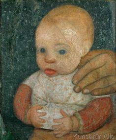 Paula Modersohn-Becker - Säugling mit der Hand der Mutter