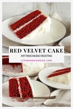 This easy Red Velvet layer cake is the best! It is a gorgeous dessert and every person who tries it is infatuated. Try this original southern recipe! Southern Red Velvet Cake, Best Red Velvet Cake, Red Velvet Cupcakes, Red Velvet Cheesecake Cake, Powdered Food Coloring, Velvet Cream, Köstliche Desserts, Health Desserts, French Desserts