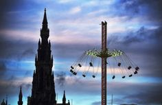 Members of the public enjoy a ride on the star flyer in Edinburgh Picture: Jeff J Mitchell/Getty Images