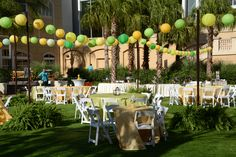 Citrus Outdoor Chic event we produced at the Gaylord Palms