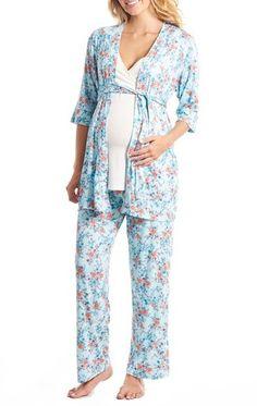 Women's Everly Grey Susan 5-Piece Maternity/nursing Pajama Set
